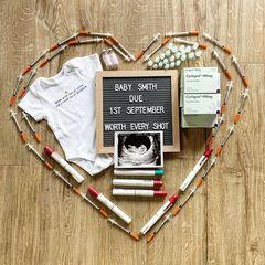 IVF medication pregnancy announcement
