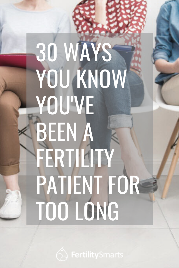 Pinterest Pin Title: 30 Ways You Know You've Been A Fertility Patient For Too Long