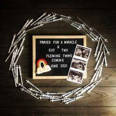 Twin IVF pregnancy announcement