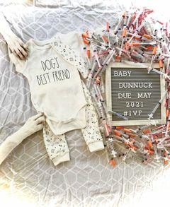 Baby Dunnuck IVF pregnancy announcement